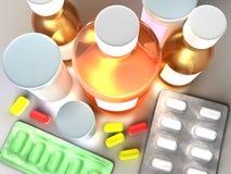 Conceito colorido da medicina Imagem de Stock Royalty Free