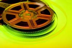 Conceito colorido do carretel de película Imagens de Stock