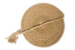 Conceito com corda longa do cânhamo Foto de Stock Royalty Free