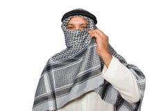 Conceito com o homem árabe isolado Foto de Stock