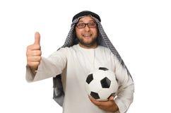 Conceito com o homem árabe isolado Fotos de Stock Royalty Free