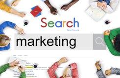 Conceito comercial do consumidor da propaganda do mercado do mercado foto de stock