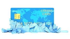 Conceito congelado da conta bancária ilustração stock