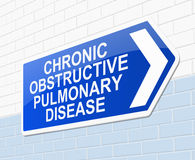 Conceito crônico da doença pulmonar obstrutiva Imagem de Stock Royalty Free