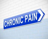 Conceito crônico da dor. Imagens de Stock