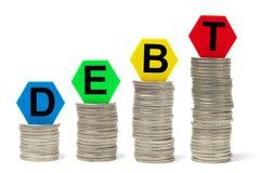 Conceito crescente do débito Foto de Stock