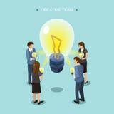 Conceito criativo da equipe Imagens de Stock