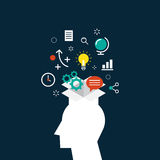 Conceito criativo da ideia, ilustração do vetor do processo da inspiração Imagens de Stock