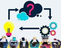Conceito criativo da inovação da inspiração da ideia do planeamento imagens de stock