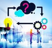 Conceito criativo da inovação da inspiração da ideia do planeamento imagem de stock royalty free