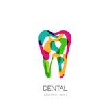 Conceito criativo do logotipo para a clínica, o dentista e a medicina dentais ilustração stock