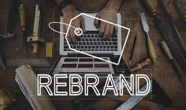 Conceito criativo do mercado da identidade de marca do projeto imagem de stock