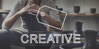 Conceito criativo do mercado da identidade de marca do projeto imagens de stock