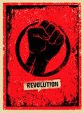 Conceito criativo do vetor do Grunge de SocialProtest da revolução no fundo áspero do Grunge ilustração stock