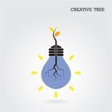 Conceito criativo e do conhecimento da árvore Sinal da educação e do negócio Foto de Stock Royalty Free
