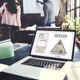 Conceito criativo gráfico do esboço da finalidade de planeamento do projeto Imagem de Stock