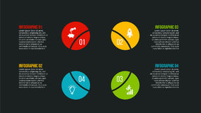 Conceito criativo para infographic Foto de Stock Royalty Free