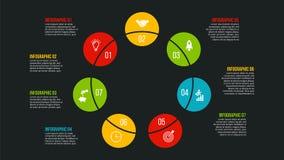 Conceito criativo para infographic Imagens de Stock