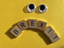 Conceito criativo: Política britânica, Brexit fotografia de stock