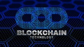Conceito cripto do blockchain da moeda Imagens de Stock Royalty Free