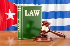 Conceito cubano da lei e da justiça, rendição 3D ilustração royalty free
