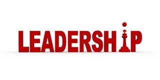 conceito 3d da liderança Foto de Stock