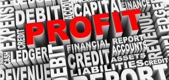 conceito 3d de etiquetas da palavra do lucro Imagem de Stock Royalty Free