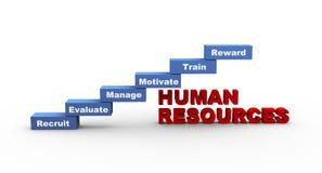 conceito 3d de recursos humanos Fotografia de Stock Royalty Free
