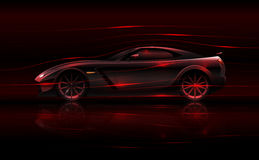 Conceito da aerodinâmica do carro de corridas ilustração royalty free