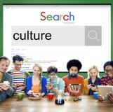 Conceito da afiliação étnica da opinião da alfândega da cultura imagem de stock royalty free