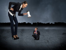 Conceito da agressão Imagem de Stock