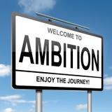 Conceito da ambição. ilustração royalty free