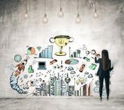 Conceito da ambição e do sucesso ilustração royalty free