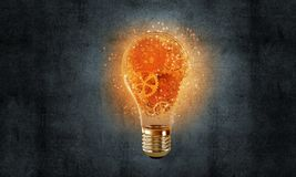 Conceito da ampola como o símbolo da ideia nova Fotografia de Stock Royalty Free