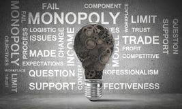Conceito da ampola como o símbolo da ideia nova Imagens de Stock