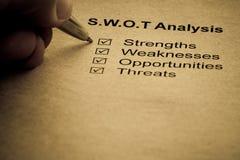 Conceito da análise da estratégia empresarial Imagens de Stock