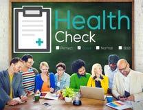 Conceito da análise do problema médico do diagnóstico do exame médico completo Imagem de Stock