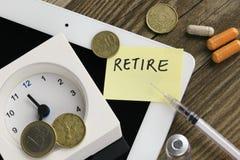 Conceito da aposentadoria Imagens de Stock