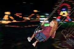 Conceito da apreciação de Carninal do divertimento de Spining do balanço Imagem de Stock Royalty Free