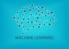 Conceito da aprendizagem de máquina Imagens de Stock