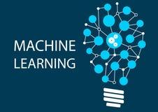 Conceito da aprendizagem de máquina Imagem de Stock Royalty Free