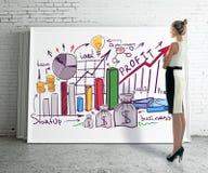 Conceito da apresentação do negócio Foto de Stock