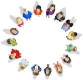 Conceito da aspiração da amizade das crianças da inocência da diversidade Imagens de Stock