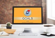 Conceito da aspiração do alvo do sucesso dos objetivos Foto de Stock