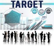 Conceito da aspiração do sucesso do objetivo da realização do alvo Foto de Stock