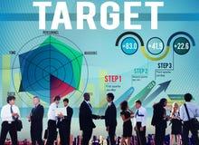 Conceito da aspiração do sucesso do objetivo da realização do alvo Imagens de Stock Royalty Free