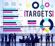 Conceito da aspiração do sucesso do objetivo da realização do alvo Imagens de Stock
