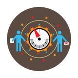 Conceito da avaliação do negócio, medida da avaliação de desempenho Os pictograma dos homens e escalam a seta Ilustração do vetor ilustração royalty free