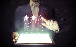Conceito da avaliação em linha Foto de Stock