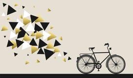 Conceito da bicicleta com projeto da geometria do ouro do moderno Fotografia de Stock